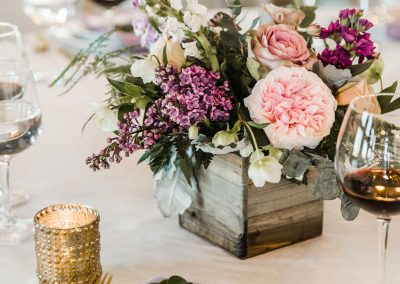 reception floral centerpiece