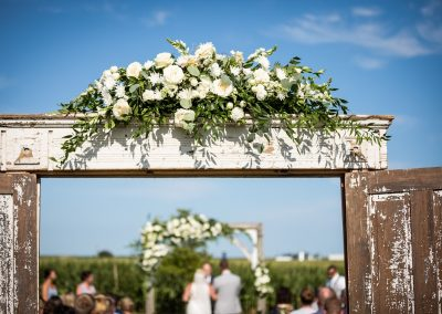 Wedding Floral Entry and Backdrop