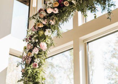 Hanging Floral Crescent