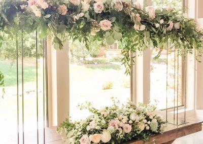 Floral Tabletop Pergola