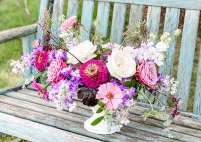 Benoit Compote vase arrangement