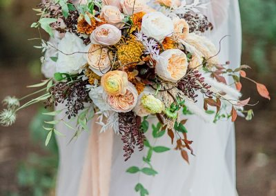 Peach and Gold Bouquet