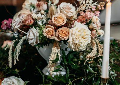 Reception floral centerpiece