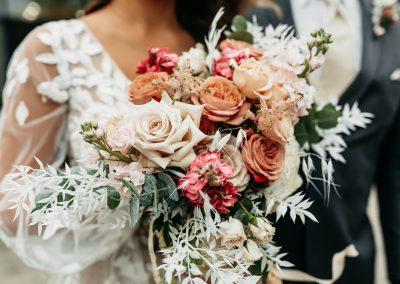 Muted bride bouquet