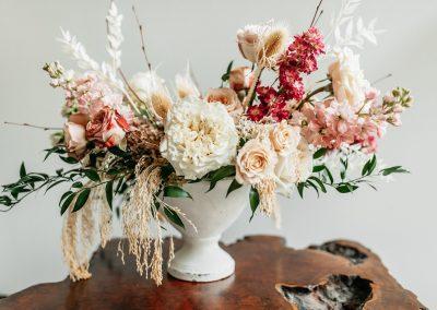 Compote floral arrangement