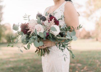 Blush Burgundy Bride Bouquet