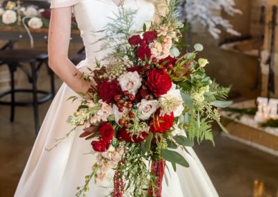 Christmas bride bouquet