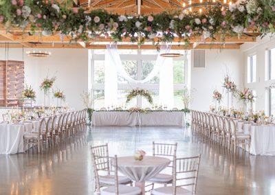 hanging floral ring, floral chandelier
