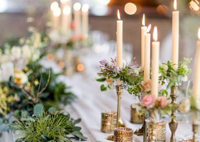 Candlestick floral rings, vintage candlesticks